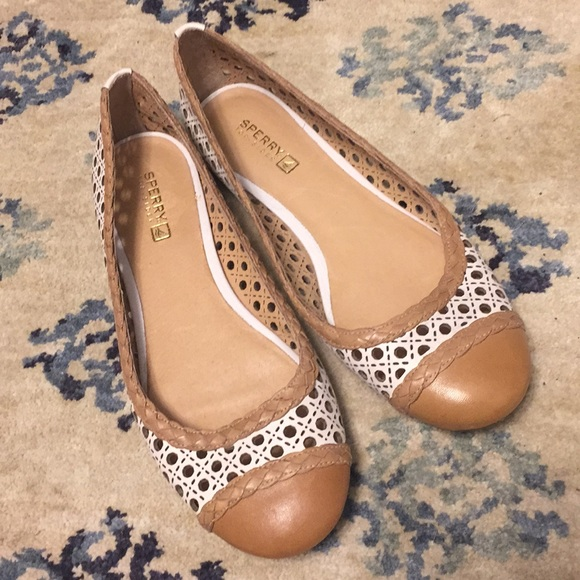 Womens Sperry Perforated Ballet Flats